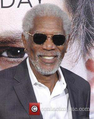 Morgan Freeman - Premiere of Warner Bros. Pictures and Alcon Entertainment's 'Transcendence' at Regency Village Theatre - Arrivals - Los...