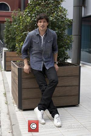 Andres Velencoso - Spanish model Andres Velencoso promotes 'B&B' television serial at the Mediaset building on April 10, 2014 in...