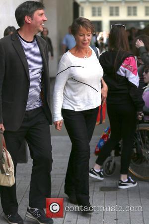 Celia Imrie - Celia and Matt leave Radio one studios - London, United Kingdom - Thursday 10th April 2014