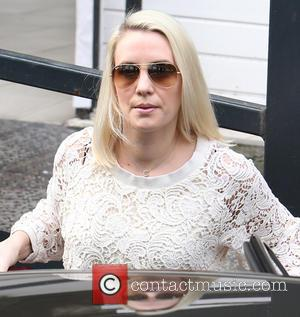 Claire Richards - Claire Richards outside the ITV studios - London, United Kingdom - Thursday 10th April 2014
