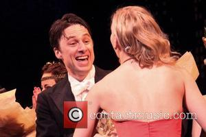 Zach Braff - Opening night of the musical Bullets Over Broadway at the St. James Theatre - Curtain Call. -...