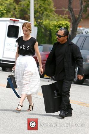 Mena Suvari and Salvador Sanchez - Mena Suvari and Salvador Sanchez seen leaving an office building  in Beverly Hills...