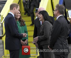 Prince William, Catherine Duchess Of Cambridge and Mayor Of Hamilton Julie Hardaker