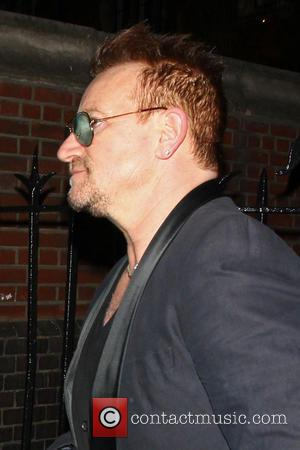 Bono - Bono and Noel Gallagher at Fire House - London, United Kingdom - Saturday 12th April 2014