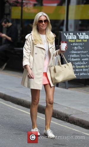 Denise Van Outen - Denise Van Outen seen arriving at work for her show. - London, United Kingdom - Saturday...