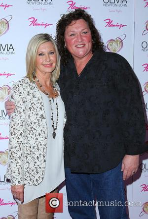 Olivia Newton John and Dot Marie Jones -