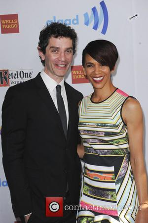 James Frain and Marta Cunningham - The 25th Annual GLAAD Media Awards - Los Angeles, California, United States - Sunday...