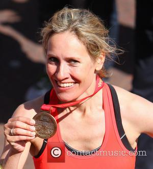 Sophie Raworth - Athletes, celebrities wheelchair users and fun runners complete the Virgin Money London Marathon on the Mall -...