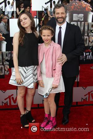 Judd Apatow and Kids - 23rd Annual MTV Movie Awards at the Nokia Theatre - Arrivals - Los Angeles, California,...