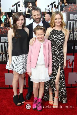 Leslie Mann, Judd Apatow and Kids