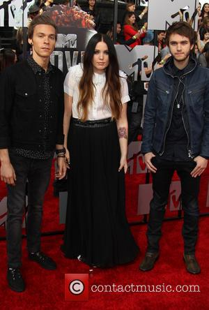 Zedd, Matthew Koma, Miriam Bryant and Anton Zaslavski - 23rd Annual MTV Movie Awards at the Nokia Theatre - Arrivals...