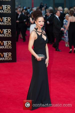 Natalie Gumede - Olivier Awards 2014 held at the Royal Opera House - Arrivals - London, United Kingdom - Sunday...