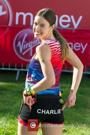 Charlie Webster - Virgin Money London Marathon - Celebrity Sightings - London, United Kingdom - Sunday 13th April 2014