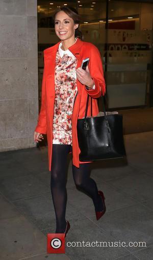 Alex Jones - Celebrities leave 'The One Show' studios - London, United Kingdom - Monday 14th April 2014