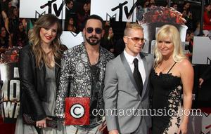 AJ McLean, Rochelle Karidis, Brain Littrell and Leighanne Wallace - The 23rd Annual MTV Movie Awards at Nokia Theatre on...
