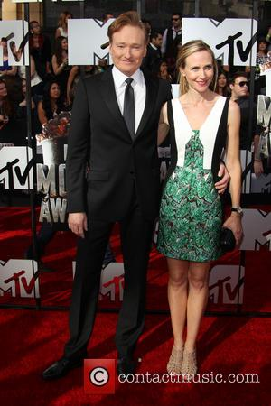 Conan O'Brien and Liza Powel - The 23rd Annual MTV Movie Awards at Nokia Theatre on April 13, 2014 in...