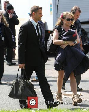 John Partridge and Rita Simons - The cast of Eastenders attend the funeral of Lucy Beale - London, United Kingdom...