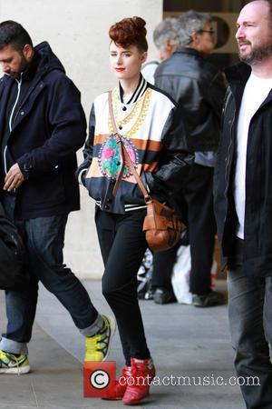 Kiesza - Kiesza leaves The Radio One studios - London, United Kingdom - Monday 14th April 2014