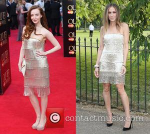 Olivia Grant and Sarah Jessica Parker - Olivier Awards 2014 held at the Royal Opera House - Arrivals - London,...