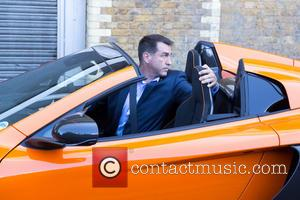 Rob Riggle - Kate Beckinsale, Terry Jones and Rob Riggle film scenes for 'Absolutely Anything' in Central London - London,...