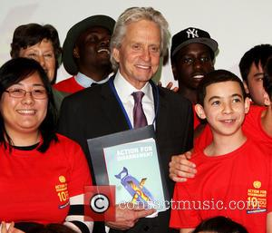 Michael Douglas - Actor and UN Messenger for Peace, Michael Douglas, takes part in a Q&A during the 'Action For...