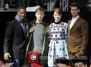 Jamie Foxx, Dane Dehaan, Emma Stone and Andrew Garfield