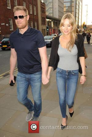 Andrew Flintoff and Rachael Flintoff - Perfect Murder press night held at the Manchester Opera House - Outside Arrivals -...