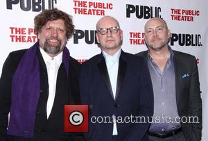 Oskar Eustis, Steven Soderbergh and Patrick Willingham