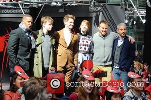 Jamie Foxx, Dane Dehaan, Andrew Garfield, Emma Stone, Marc Webb and Matt Tolmach