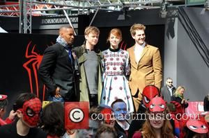 Jamie Foxx, Dane Dehaan, Andrew Garfield and Emma Stone