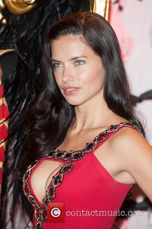 Adriana Lima - Press announcement at the Victoria's Secret Bond Street store - photocall. - London, United Kingdom - Tuesday...