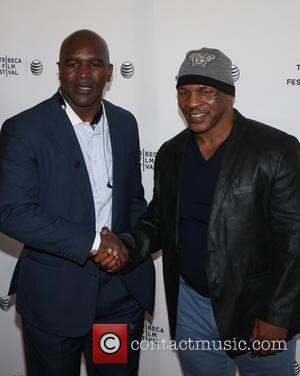 Evander Holyfield and Mike Tyson - Tribeca Talks: After the Movie, 'Champs' - Arrivals - ATLANTIC CITY, New Jersey, United...