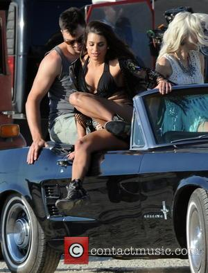 Lea Michele Suffers Nipple Slip During Video Shoot