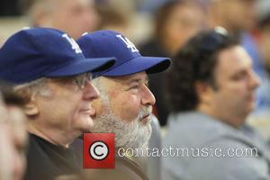Rob Reiner - Friday April 18 2014; Celebs at the Dodgers game. The Arizona Diamondbacks defeated the Los Angeles Dodgers...