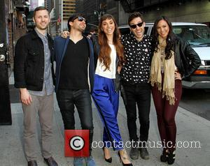 Christina Perri - Celebrities arrive at the Ed Sullivan Theater for their taping on the Late Show with David Letterman....