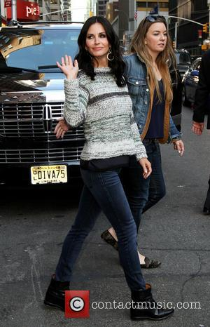 Courteney Cox - Celebrities arrive at the Ed Sullivan Theater for their taping on the Late Show with David Letterman....