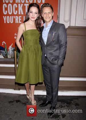 Laura Osnes and Nathan Johnson - Opening night of The Velocity of Autumn at the Booth Theatre - Arrivals. -...