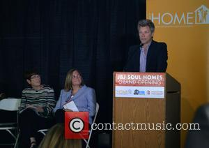 Sister Mary Scullion, Joan Dawson McConnon and Jon Bon Jovi - Jon Bon Jovi attends the grand opening of JBJ...