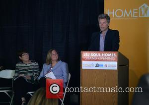 Sister Mary Scullion, Joan Dawson McConnon and Jon Bon Jovi - Jon Bon Jovi attends the grand opening of JBJ...