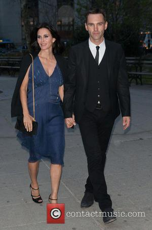 Courteney Cox and Johnny McDaid - 2014 Tribeca Film Festival Vanity Fair Party - Arrivals - New York City, New...