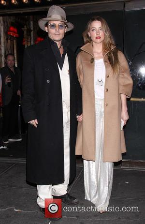 Johnny Depp and Amber Heard - Opening night of Broadway's Cabaret at Studio 54 - Arrivals. at Studio 54, -...