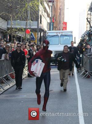 Spider-Man - The New York premiere of 'The Amazing Spider-Man 2' at The Ziegfeld Theater - Arrivals - New York,...