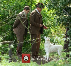 Hugh Bonneville and Alan Leech - Cast members film scenes for the new series of Downton Abbey in Bampton -...