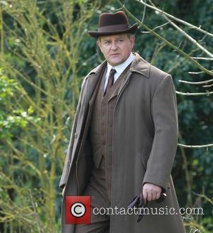 Hugh Bonneville - Cast members film scenes for the new series of Downton Abbey in Bampton - Bampton, United Kingdom...