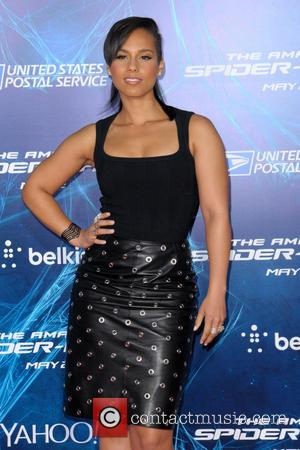 Alicia Keys - New York Premiere of 'The Amazing Spider-Man 2' at the Ziegfeld Theater - Red Carpet Arrivals -...