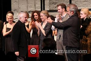 Michelle Williams, John Kander, Linda Emond, Bill Heck, Sam Mendes and Gayle Rankin - Opening night curtain call for Broadway's...