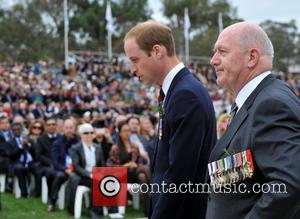 Prince William and Peter Cosgrove