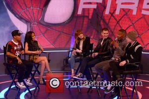 Bow Wow, Keshia Chante, Emma Stone, Andrew Garfield, Jamie Foxx and Dane Dehaan - The Cast of 'The Amazing Spider-Man...