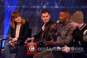 Emma Stone, Andrew Garfield, Jamie Foxx and Dane Dehaan - The Cast of 'The Amazing Spider-Man 2' Visit BET's...