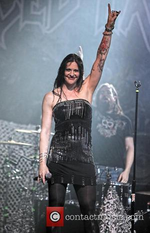 Floor Jansen - Revamp performs at Revolution Live in Fort Lauderdale - Fort Lauderdale, Florida, United States - Friday 25th...